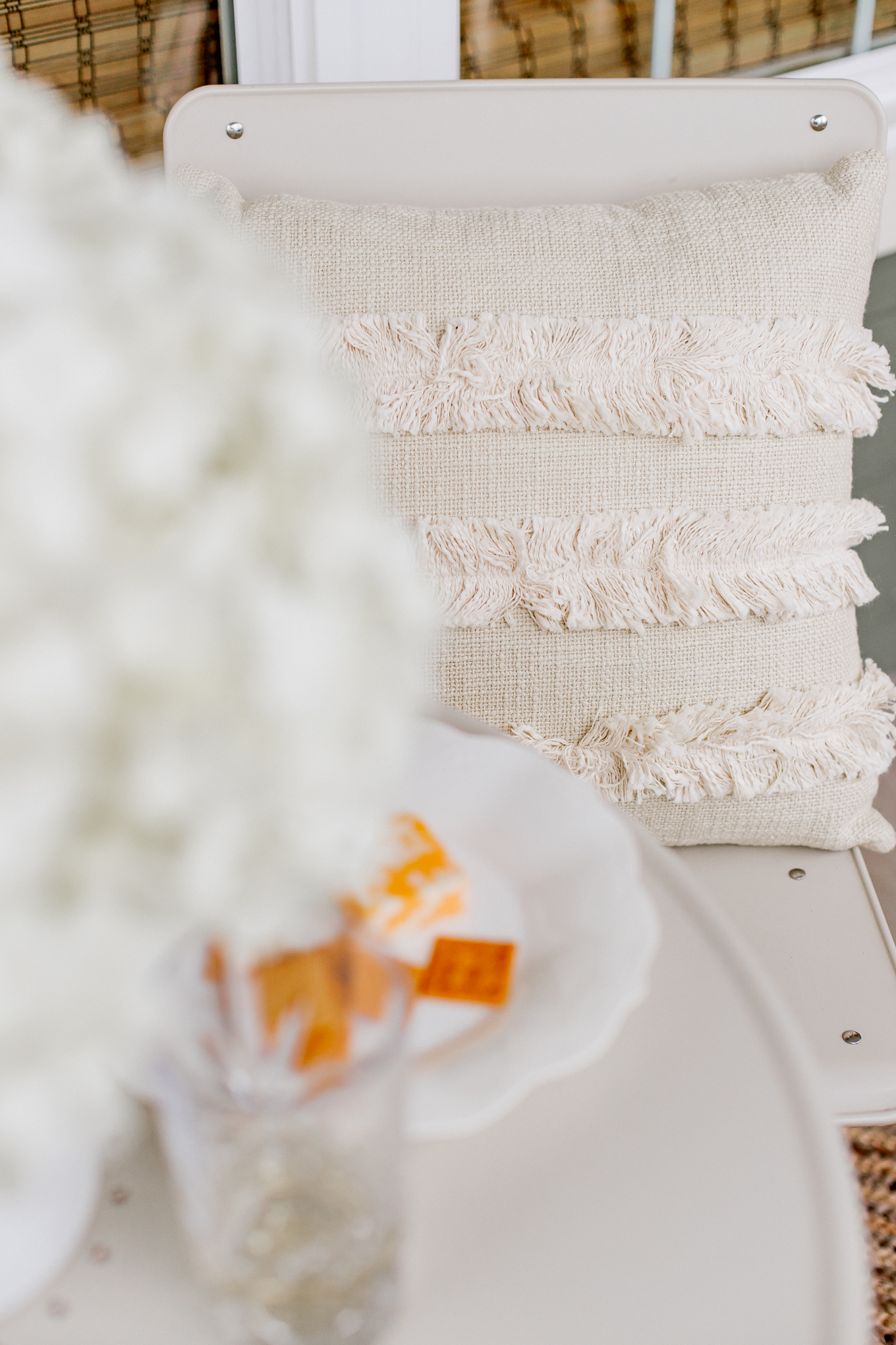 Outdoor Pillows, Neutral Front Porch Decor | Louella Reese