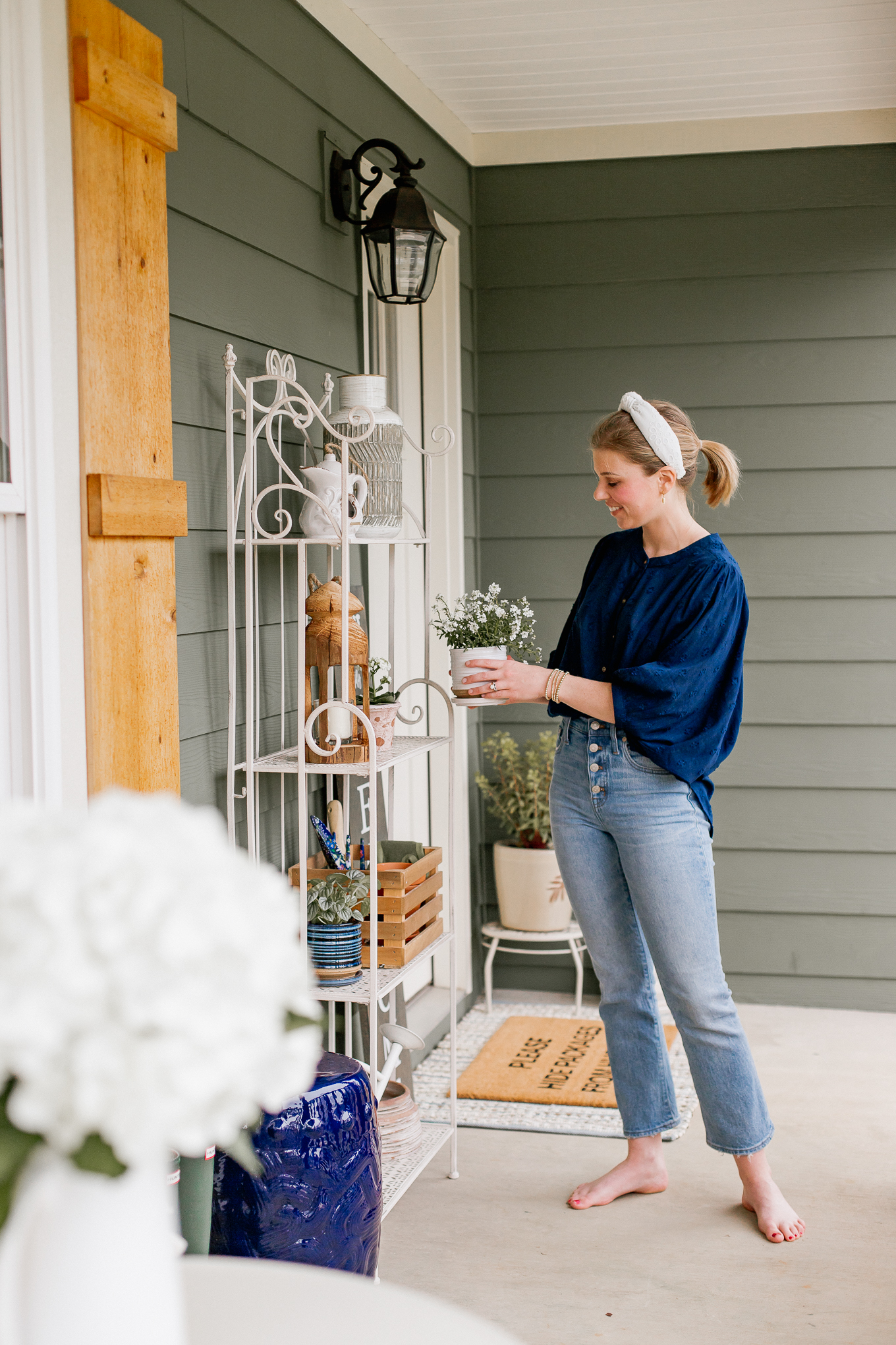 Front Porch Decor | How to Refresh Your Front Porch for Spring | Louella Reese