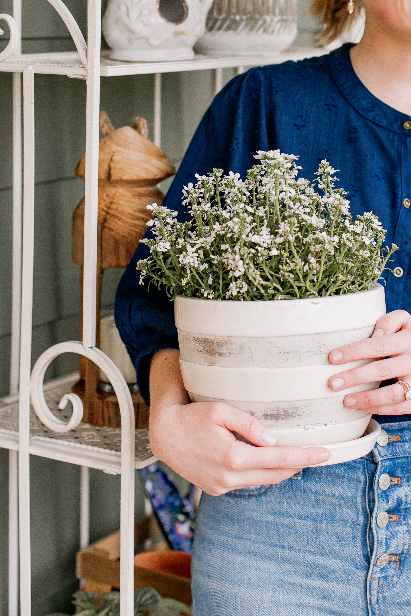 Cute Planters for Spring | Neutral Front Porch | Louella Reese