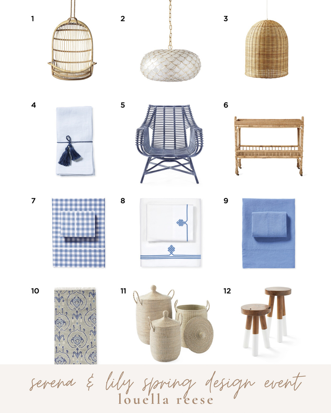 Serena & Lily Spring Design Event Top Picks | Updating Your Home for Spring | Louella Reese