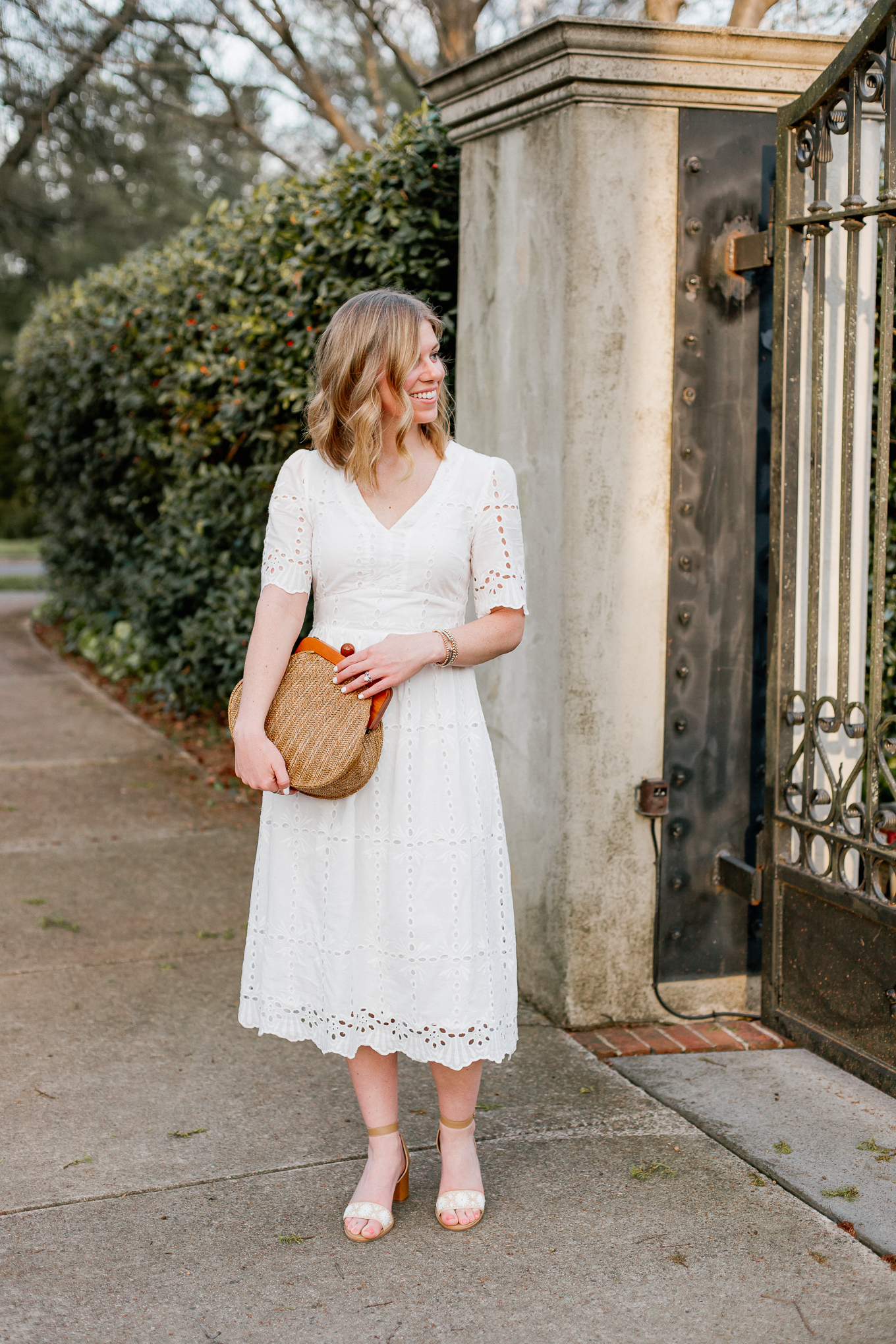 Affordable Spring Dresses and Straw Bags | Louella Reese