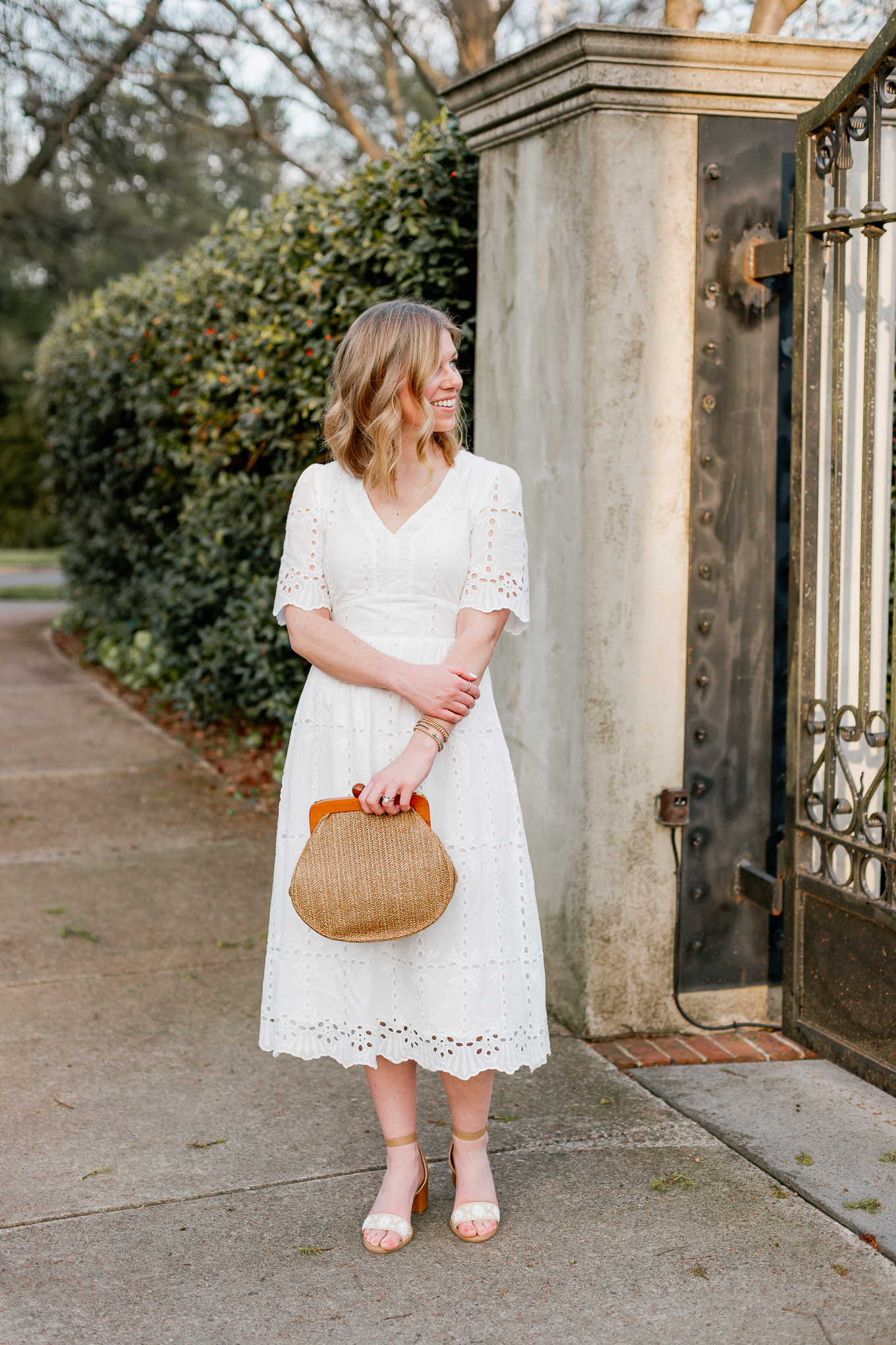 Affordable Spring Dresses and Straw Bags   Louella Reese