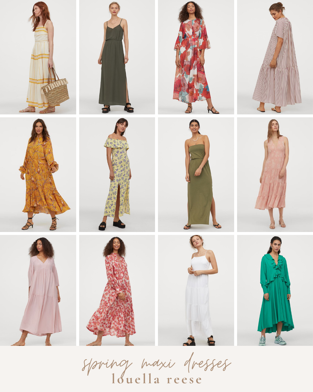 H&M Spring Favorites: Affordable Spring Maxi Dresses | Louella Reese