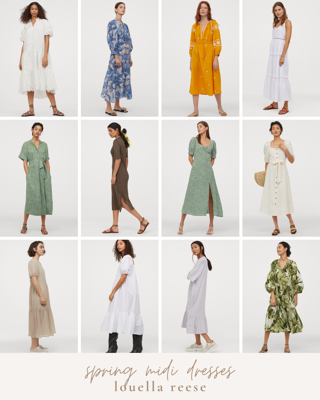 H&M Spring Favorites: Affordable Spring Midi Dresses | Louella Reese