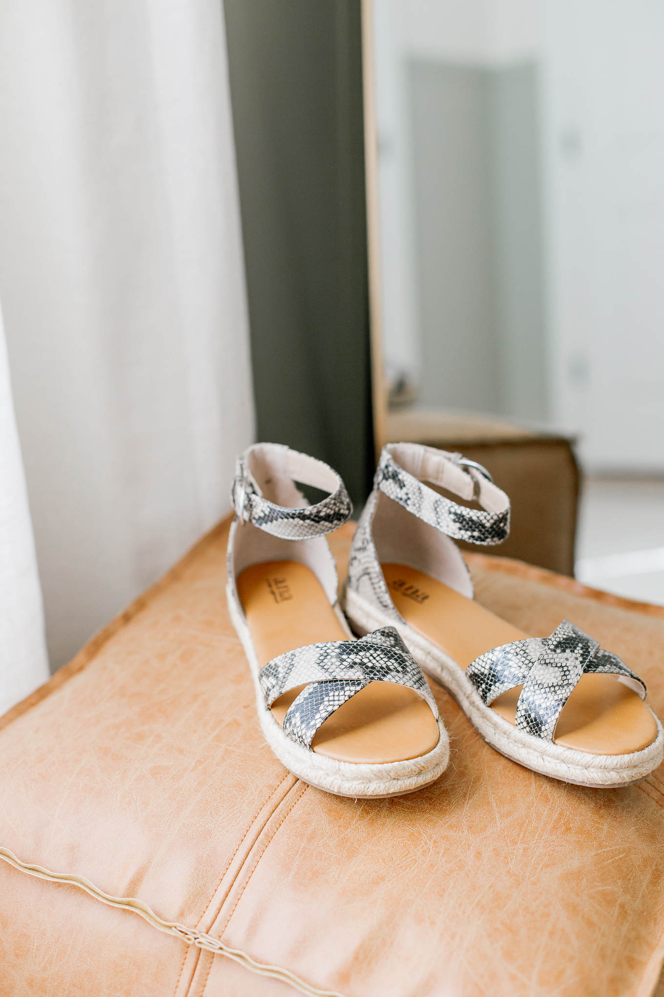 The BEST Affordable Spring Sandals for Women   Snakeskin Ankle Strap Sandals   Louella Reese
