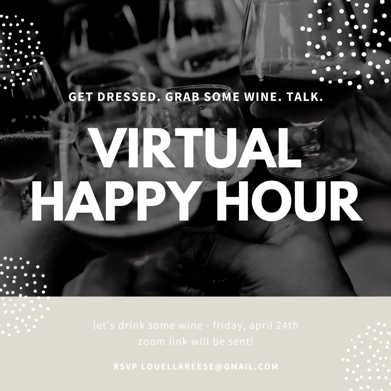 Virtual Happy Hour Invitation | Louella Reese