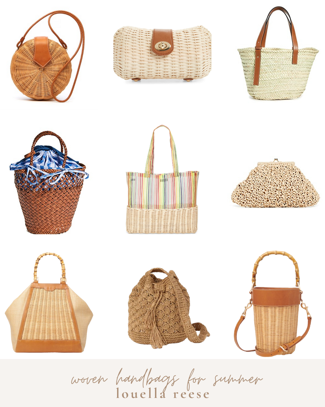 The Best Woven Bags for Summer 2020 | Straw, Wicker, and Woven Handbags | Louella Reese