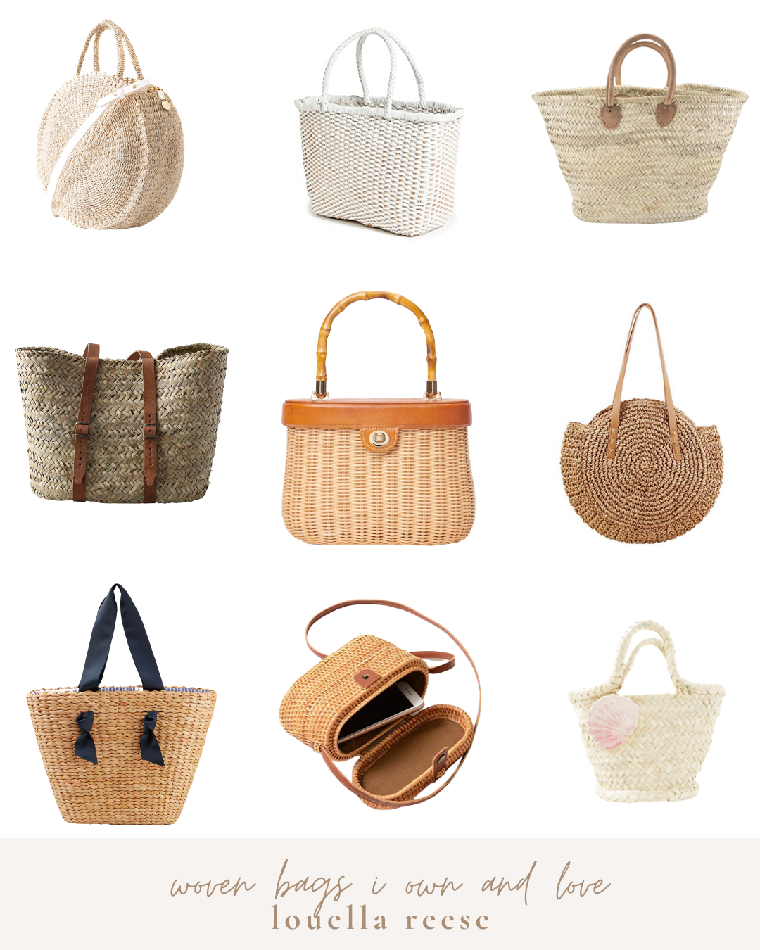 Woven Bags For Summer 2020 | Louella Reese