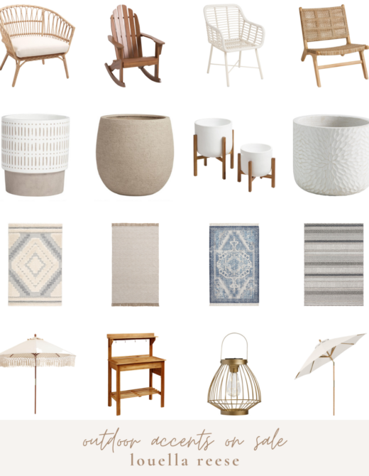 Outdoor Accents on Sale || Outdoor Furniture Sale | Neutral Outdoor Decor