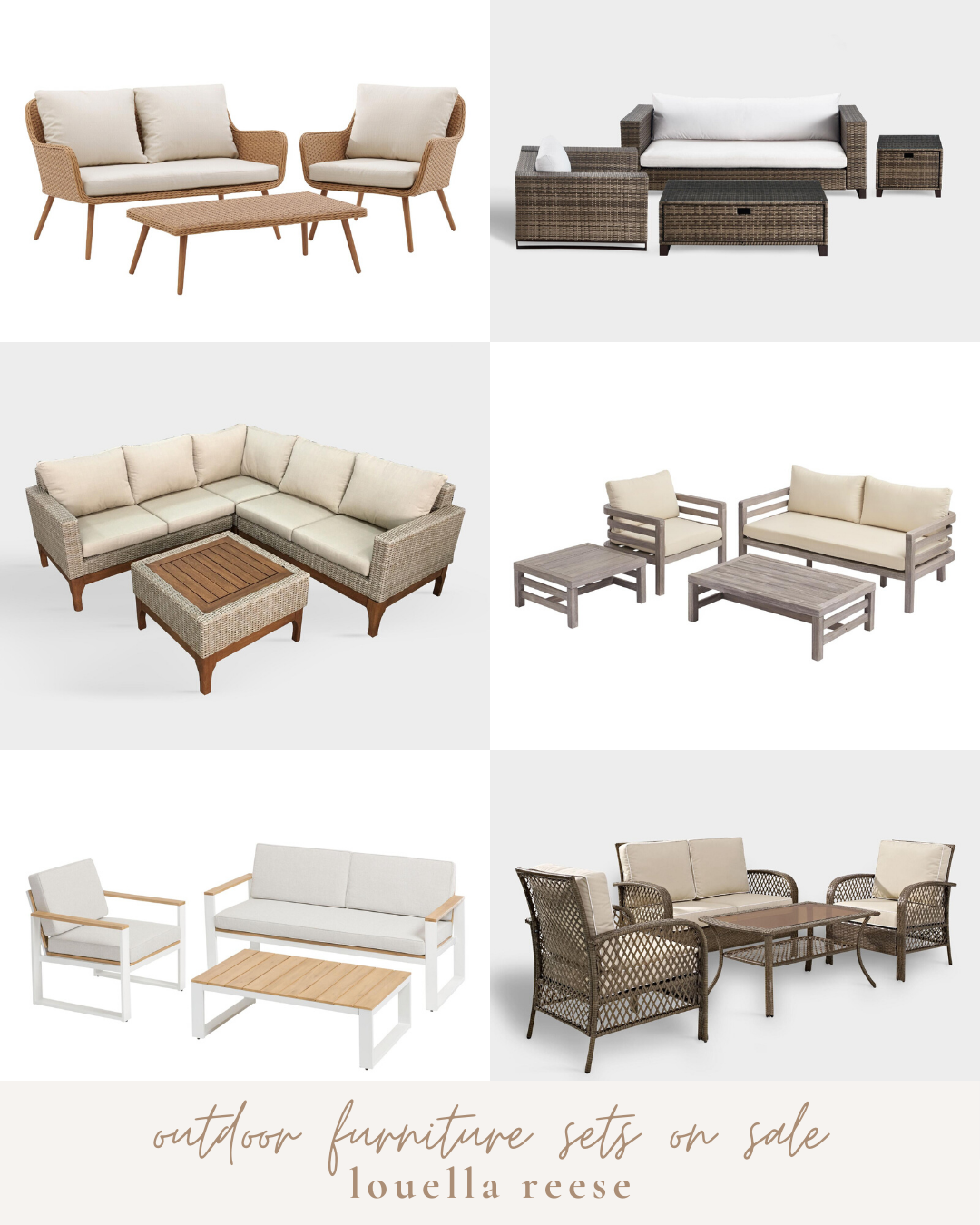 Outdoor Furniture Sets on Sale || Outdoor Furniture Sale | Neutral Outdoor Furniture