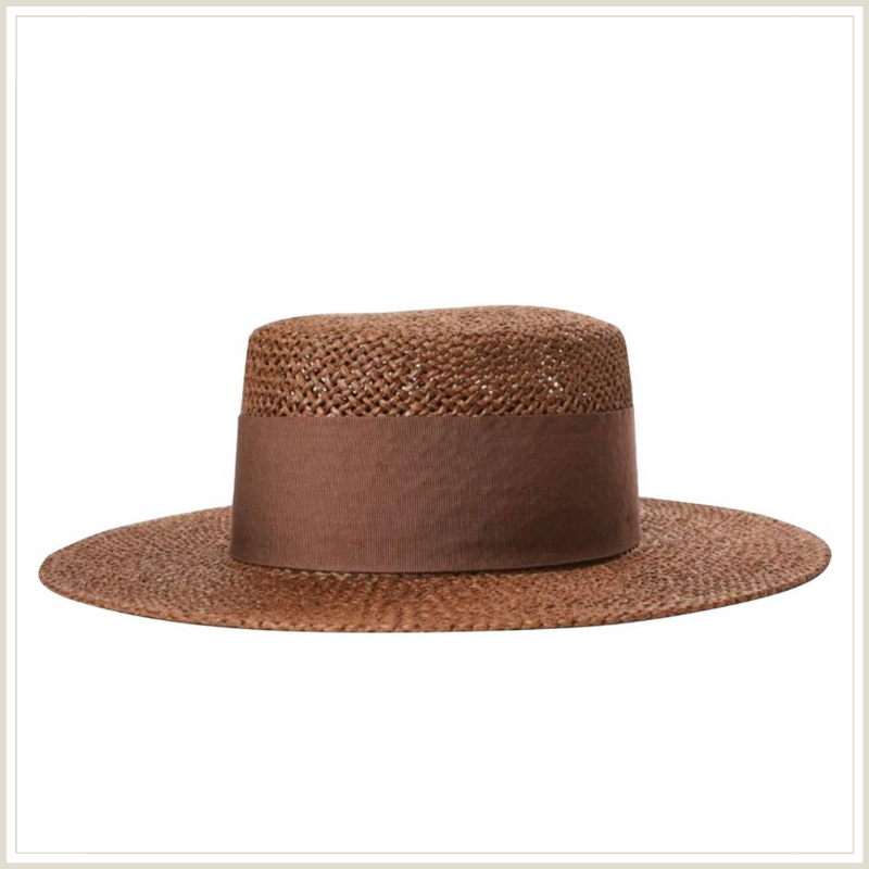 BROWN BOATER for summer
