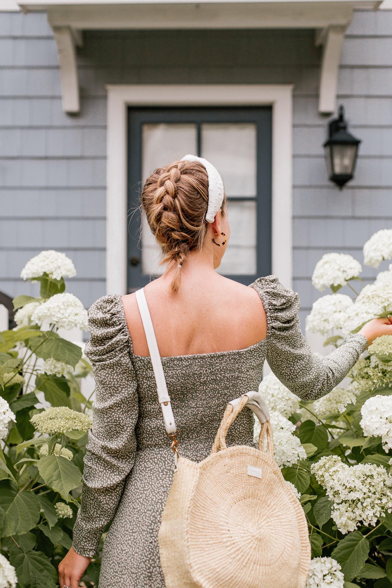 Puff Sleeved Summer Dress, White Eyelet Headband | Louella Reese