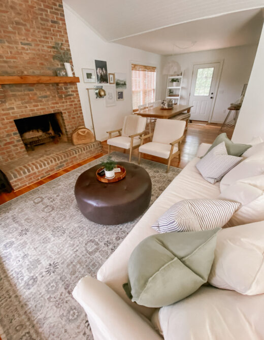 Searching for the Perfect Coffee Table - Article Timpani Ottoman Review - Louella Reese, North Carolina Lifestyle and Fashion Blog