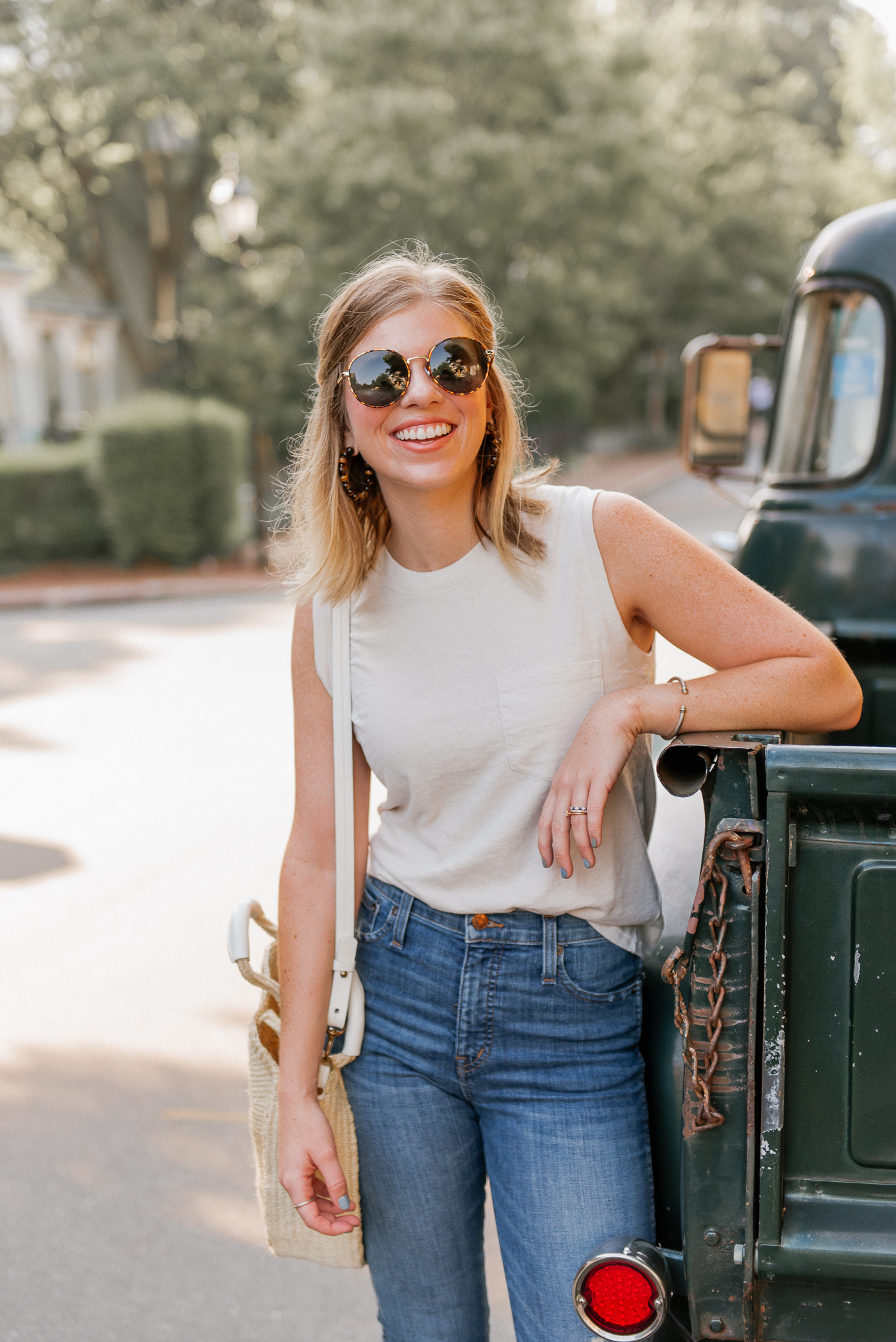 Favorite Sunglasses for All Seasons | Classic Round Frame Sunglasses | Louella Reese