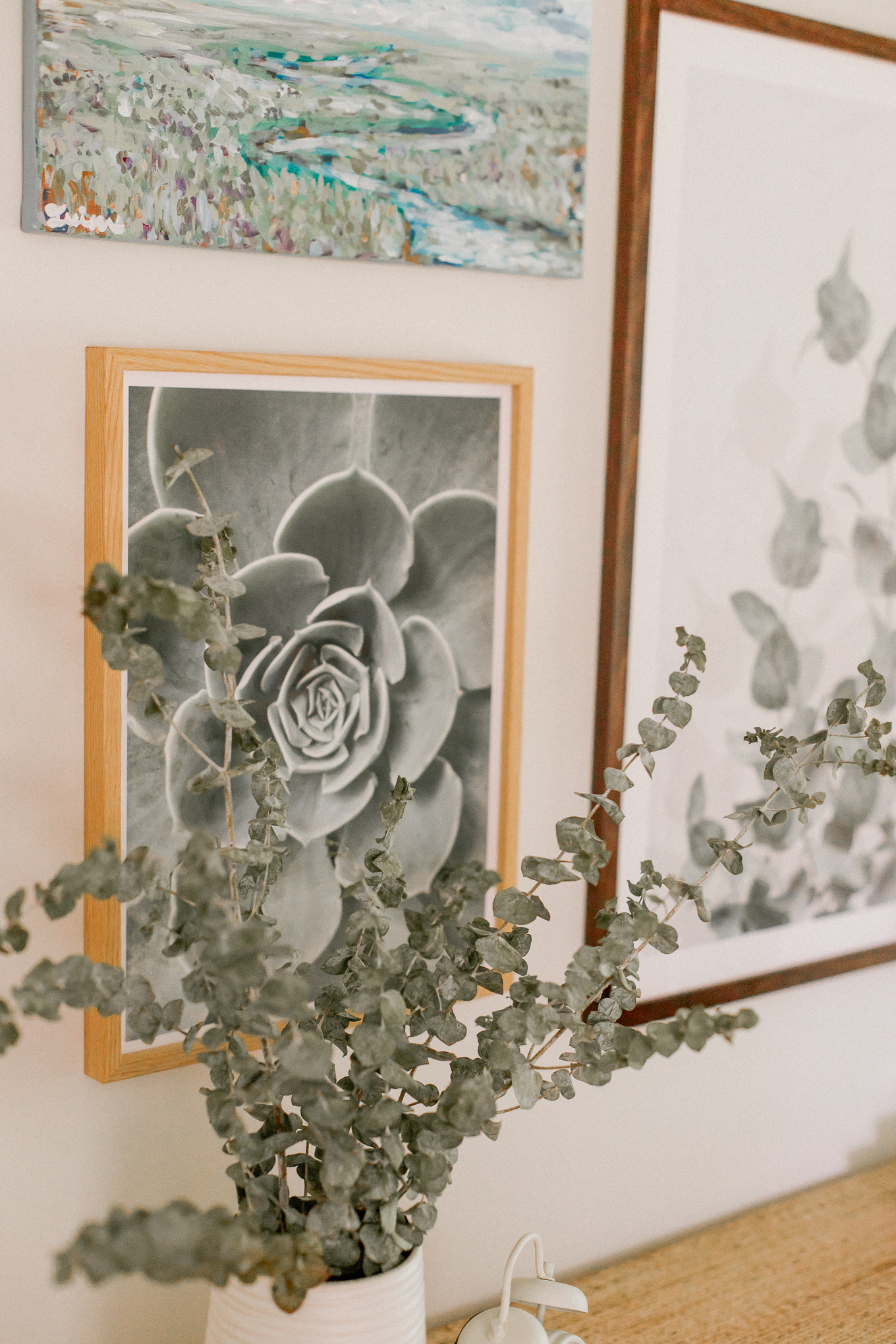Green Neutral Gallery Wall   Louella Reese
