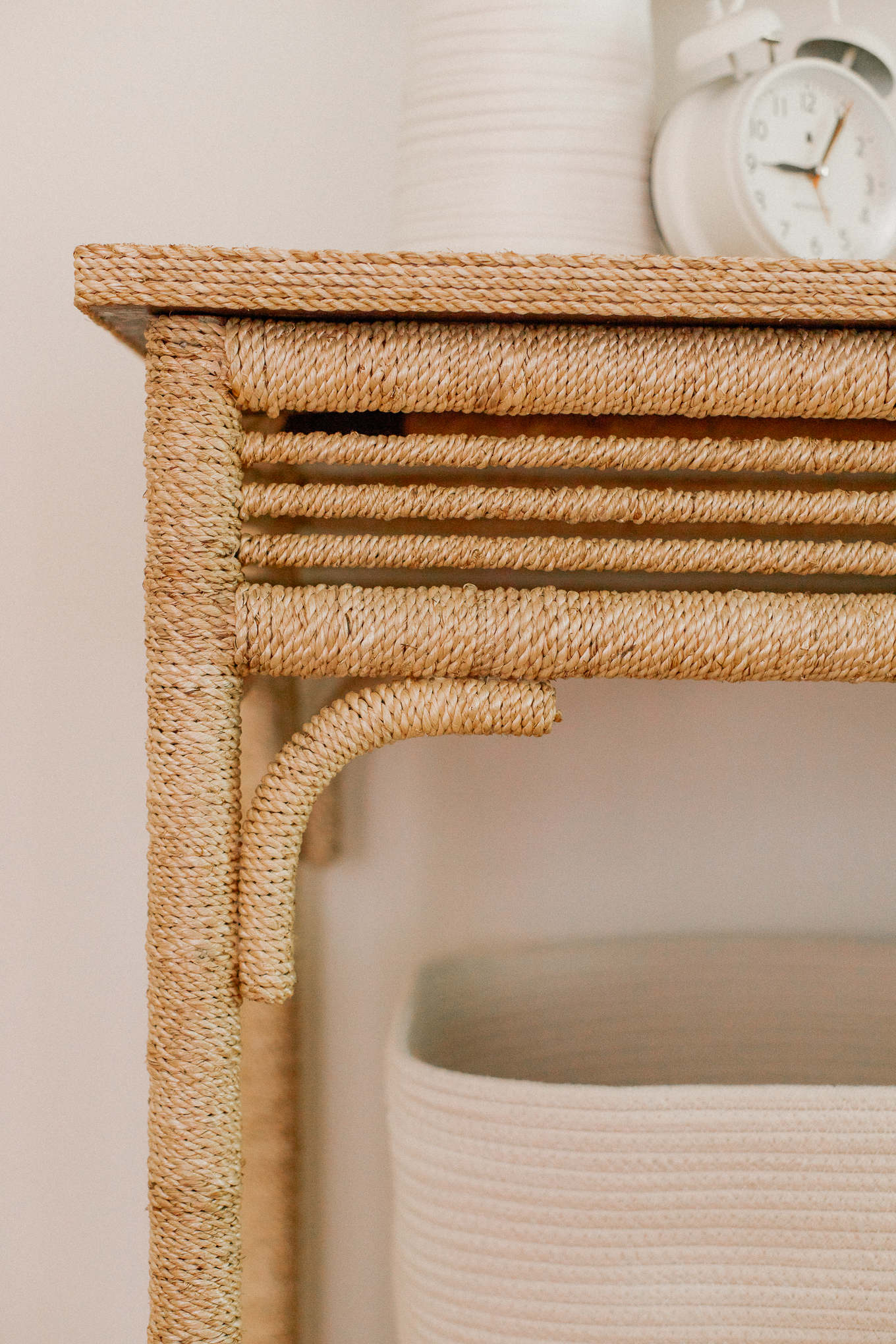 Braided Rope Console Table   Louella Reese