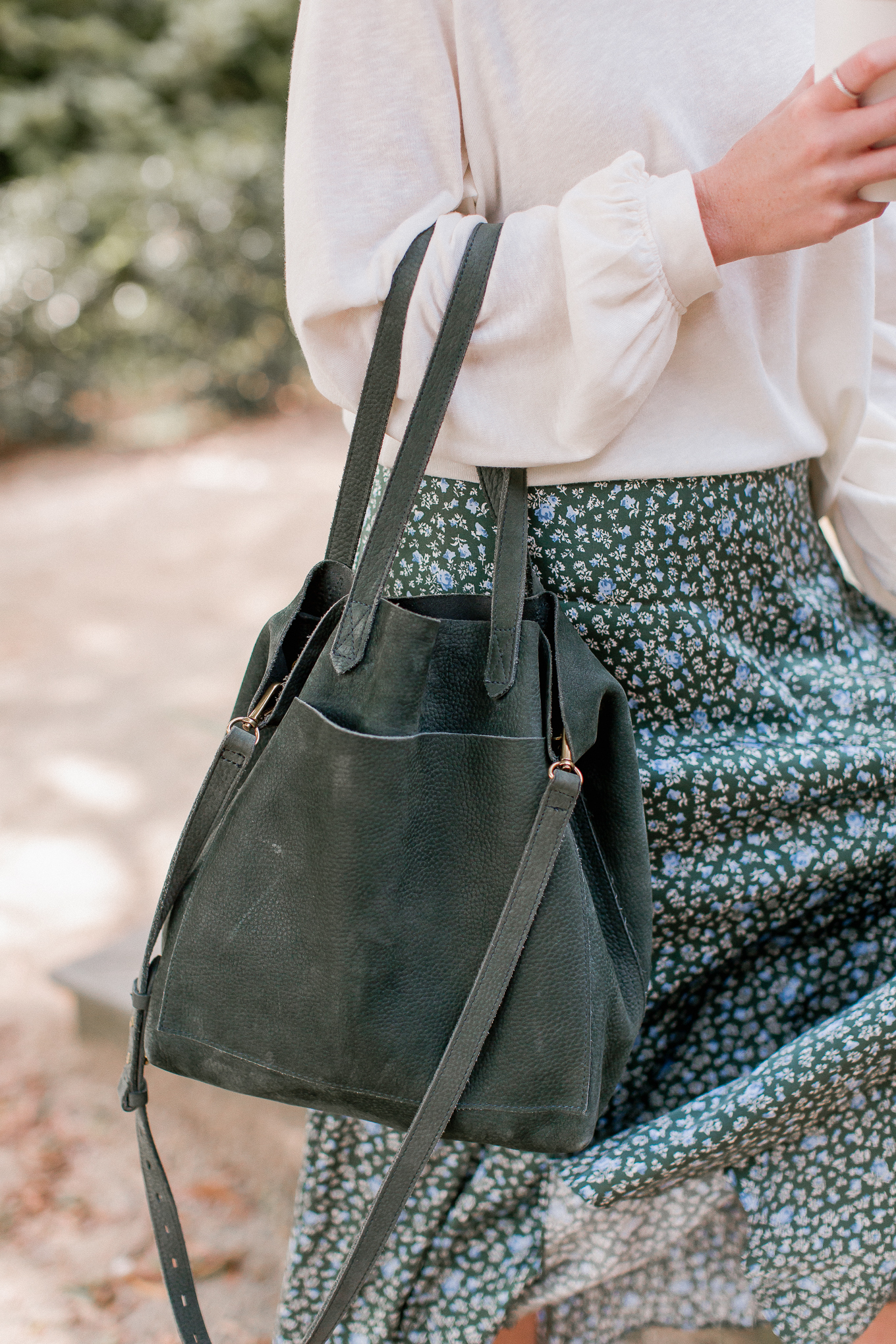 Green Suede Tote | Louella Reese