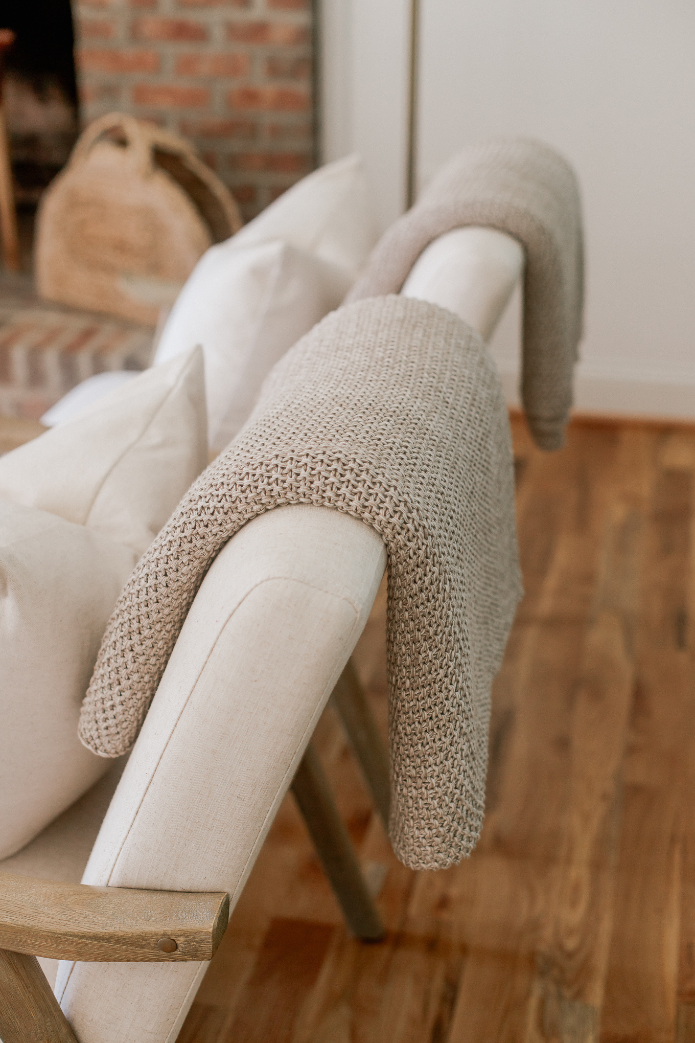 Knit Throw Blankets, Neutral Living Room Decor | Louella Reese