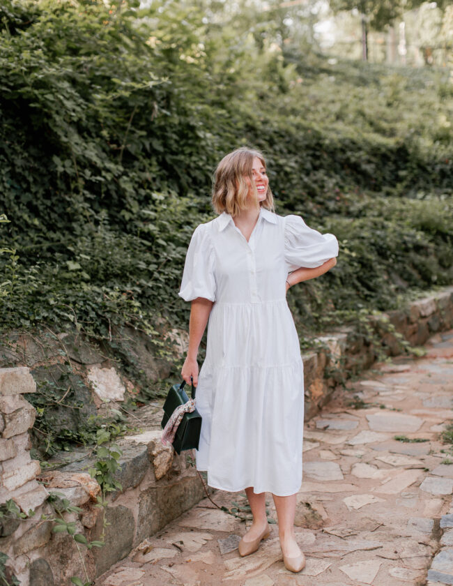 Three Ways to Style a White Shirt Dress | Louella Reese