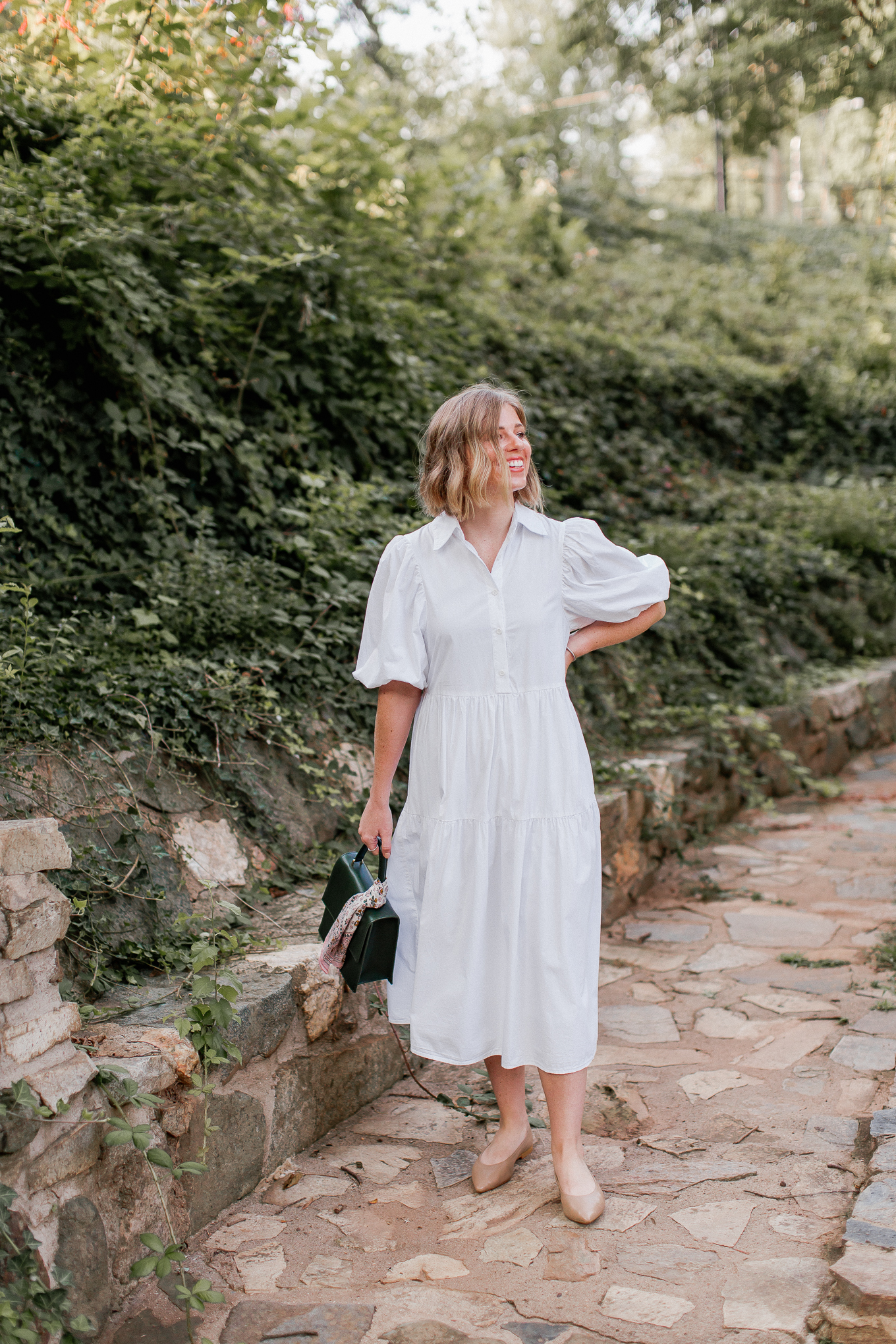 Three Ways to Style a White Shirt Dress | Louella Reese