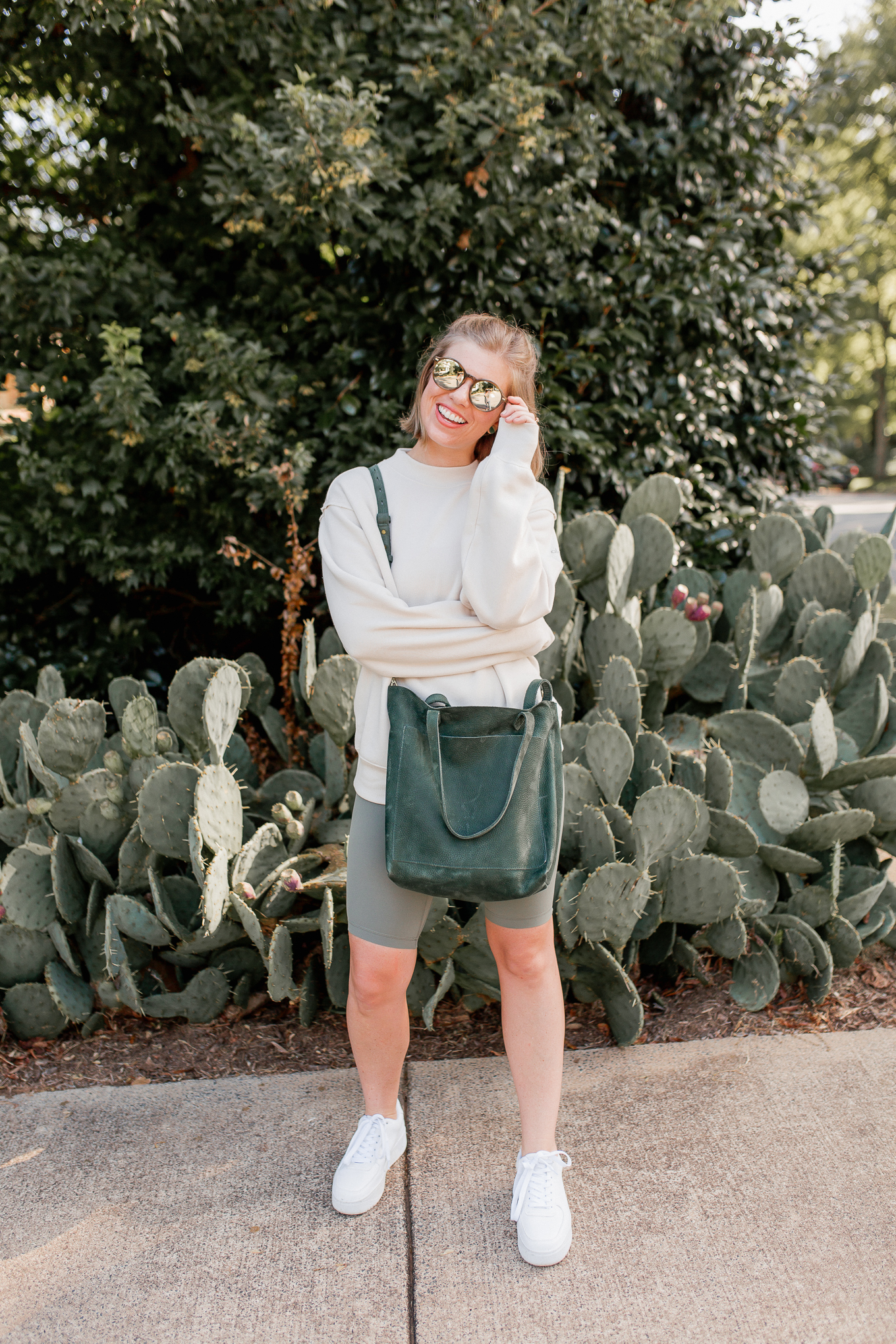 How to Style Biker Shorts for Fall | Louella Reese