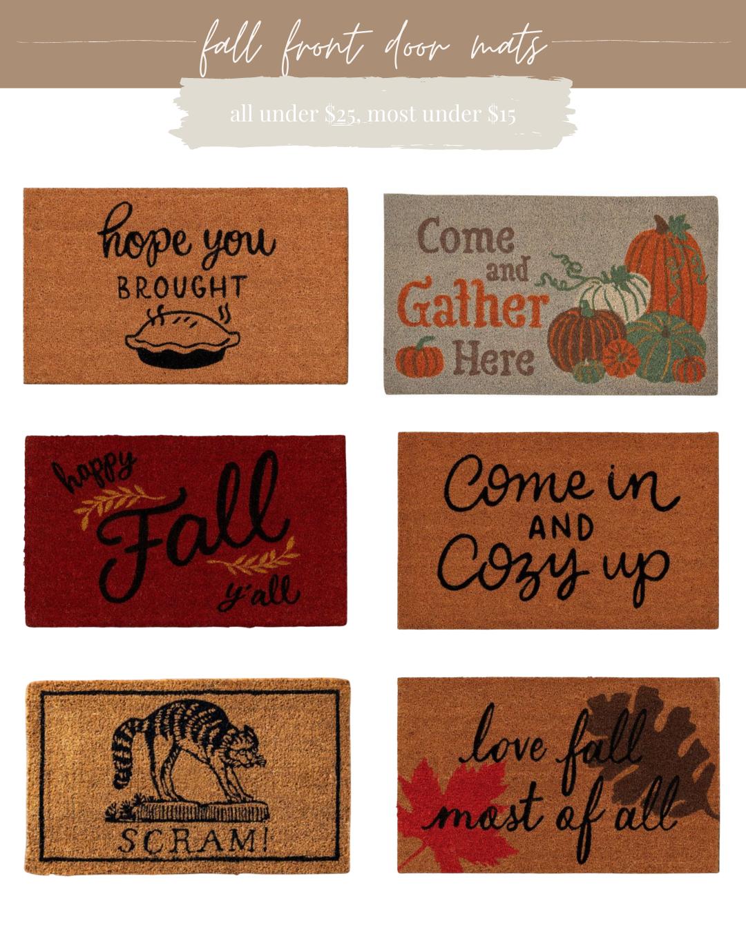 Fall Front Door Mats | Louella Reese