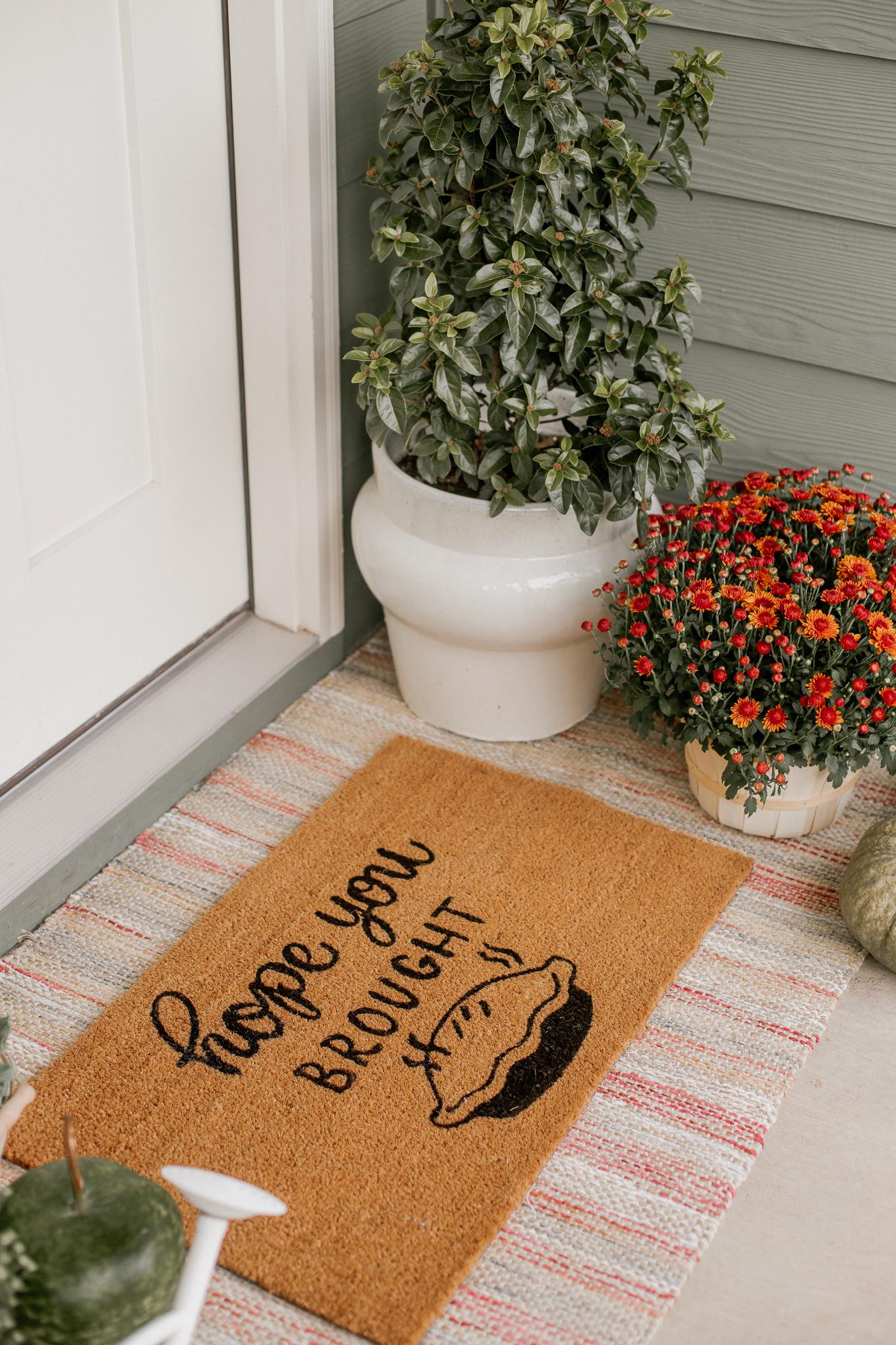 Front Door Mat, Hope Your Brought Pie Mat | Louella Reese