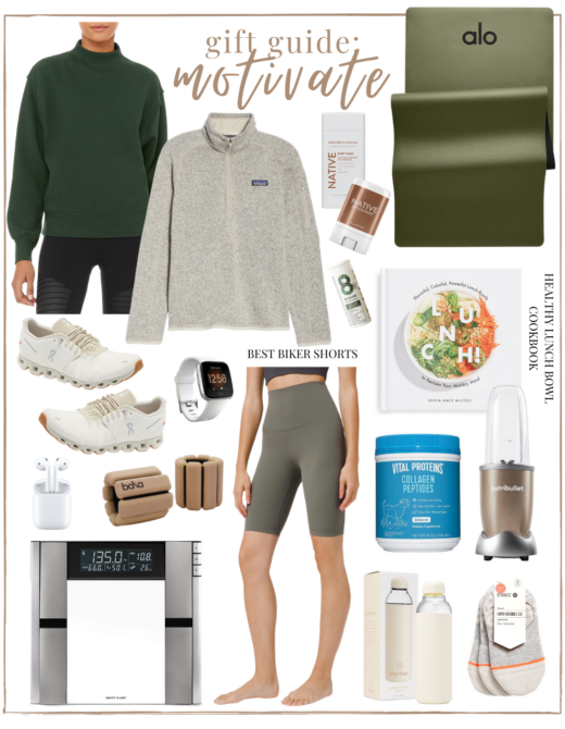 2020 Holiday Gift Guide Motivate - a gift guide for the health & fitness lover | Louella Reese
