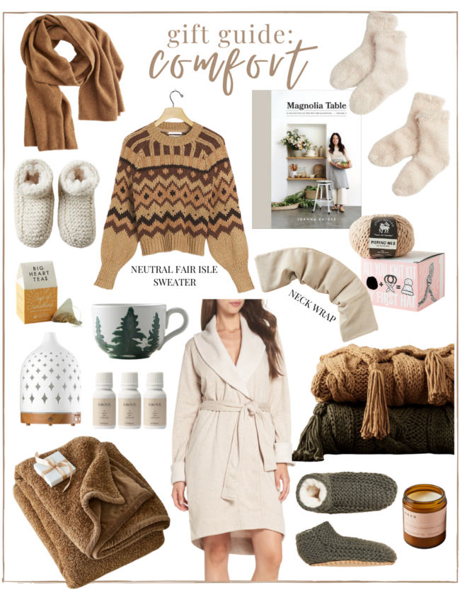 2020 Holiday Gift Guide Comfort - a gift guide for the homebody & those trying to find more comfort at home | Louella Reese