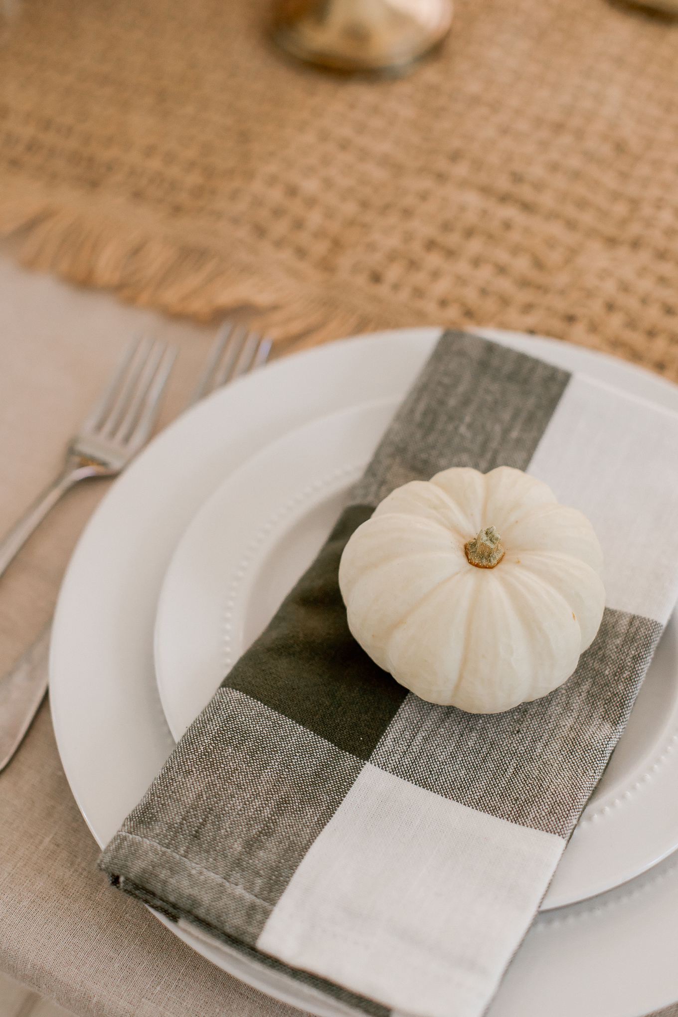 Natural Traditional Fall Tablescape with Antique Accents