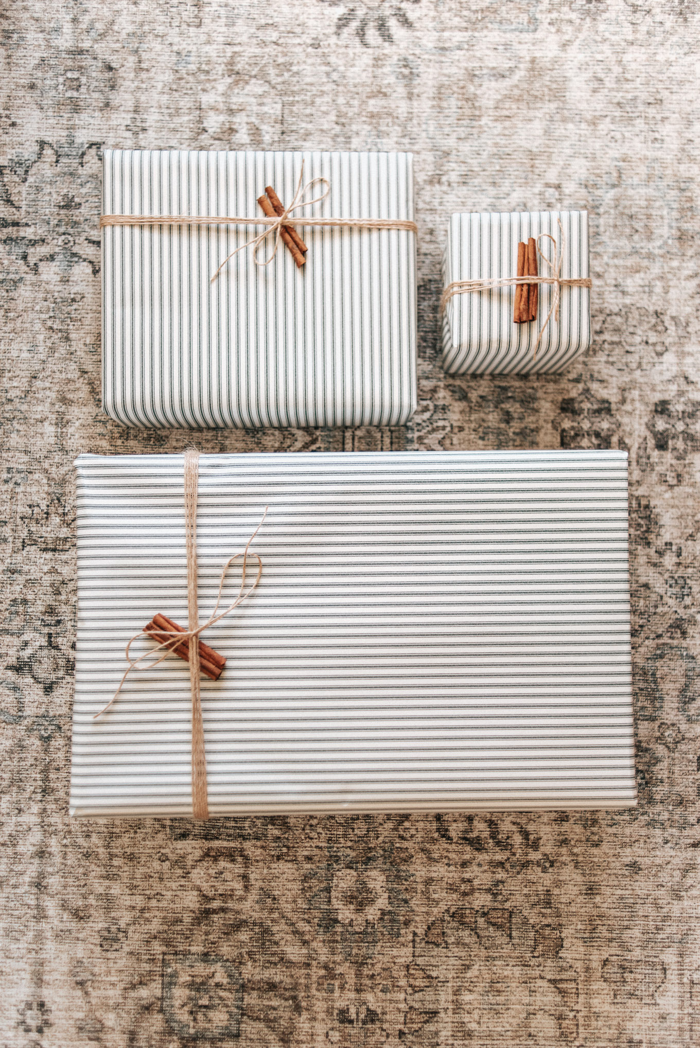 Holiday Wrapping Paper Ideas, Striped Wrapping Paper | Louella Reese