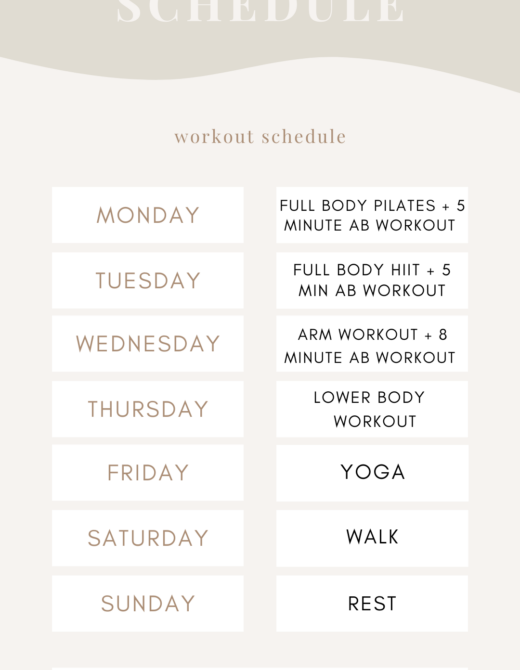 Week Workout Schedule - Workout Planning | Louella Reese