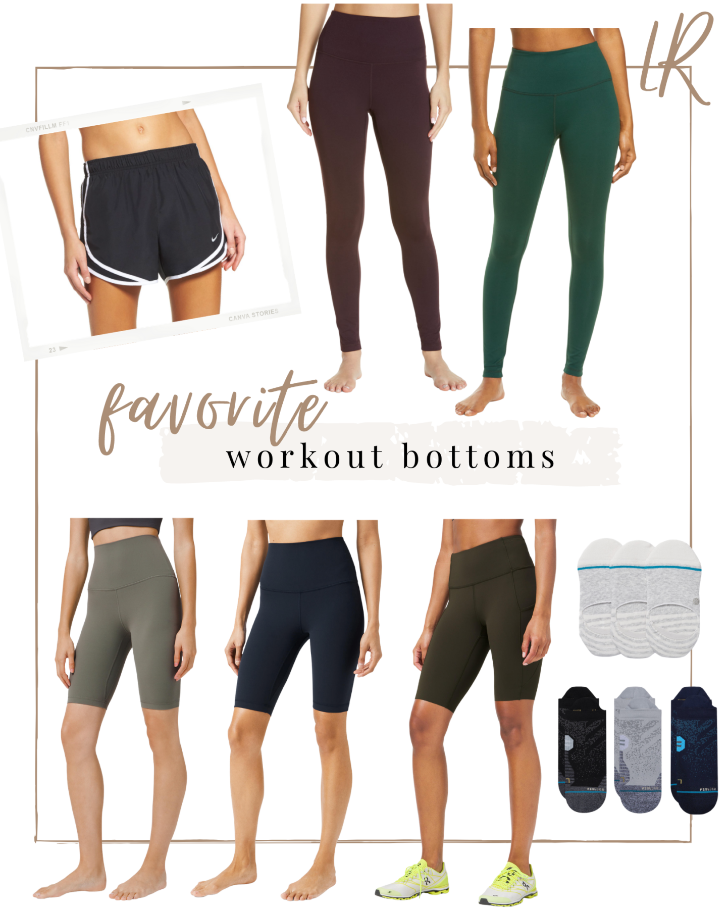 Favorite Workout Leggings, Shorts, and Socks | lifestyle | Louella Reese