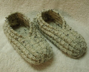 Easy to Knit Slippers Pattern