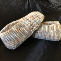 How to knit adult slippers