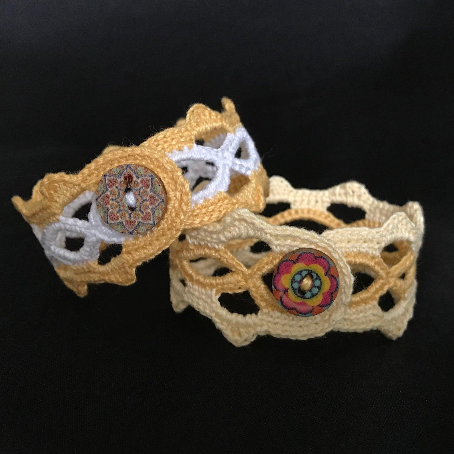 Crocheted Boho Hippie Bracelets – Custom Made