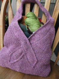 knitting pattern for a tote bag