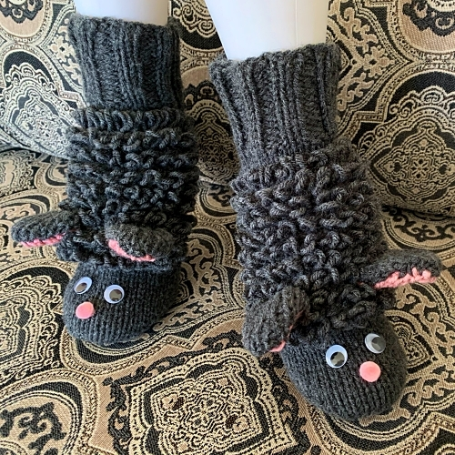 Sheep Slippers CUSTOM MADE Hand Knit – FREE Shipping!