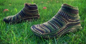Knitted Camo Slippers