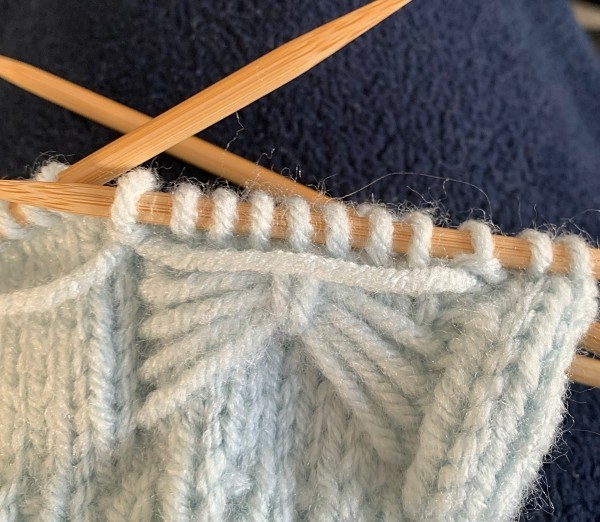 Making the strand - How to Knit Fingerless Bow Gloves