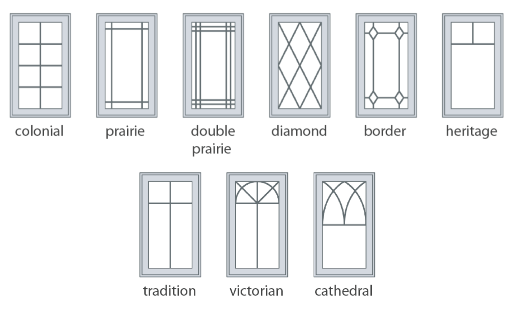 Double Hung Windows Grill Patterns