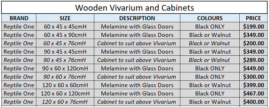 Wooden Vivarium Price