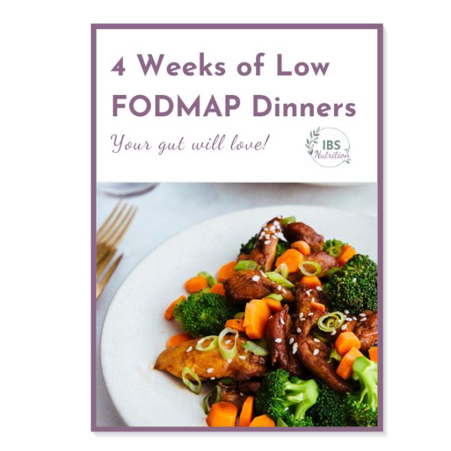 4 weeks of low FODMAP dinner plans