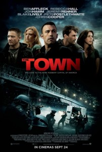 Official movie poster for The Town, starring Ben Affleck and Rebecca Hall