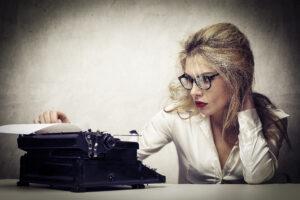 Woman writer at work