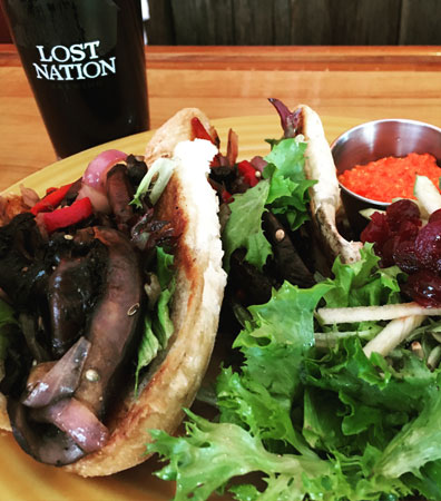 Lost Nation Brewery Vegan food options in Vermont