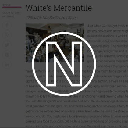 White's Mercantile is mentioned in nFocus