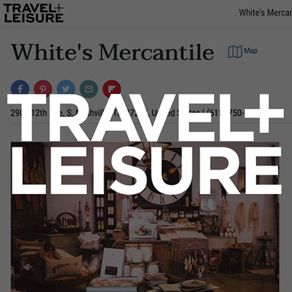 White's Mercantile is mentioned in Travel+Leisure