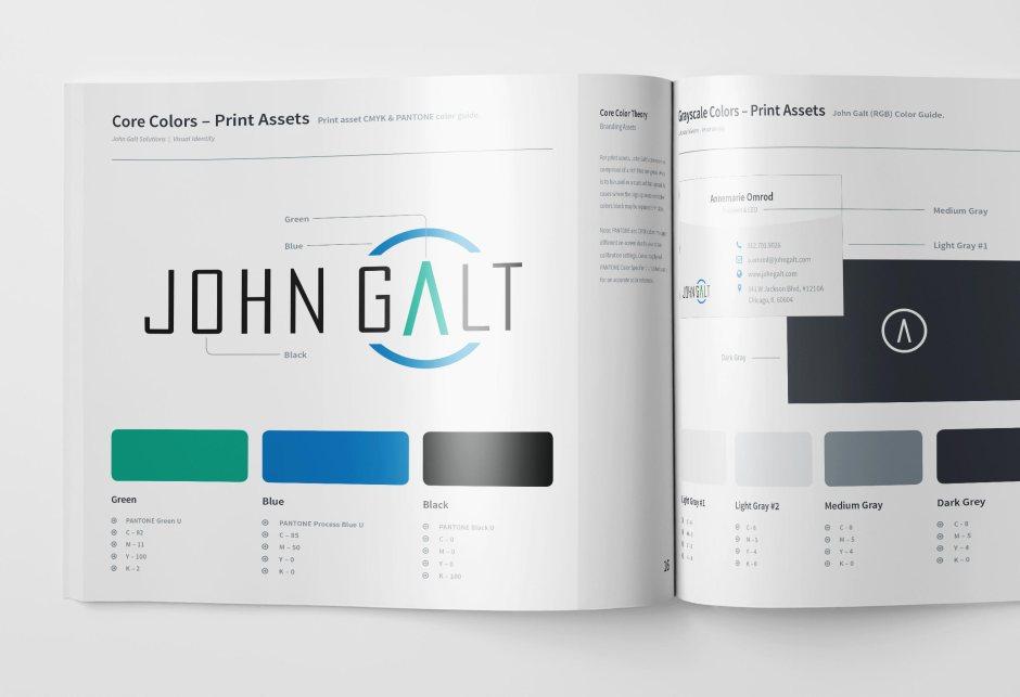 John Galt Brand Guidelines Mock Up