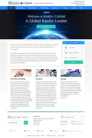 KaMin home page design